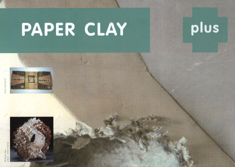 Picture of top half of poster/flyer for paper clay Plus